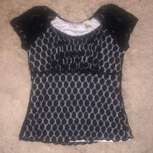 5/$20 Requirements size medium black over lace tee